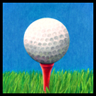 Golf Ball and Tee pencil color drawing