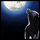 Lone Wolf Howling At Moon Acrylic Painting