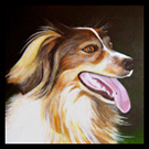 Tille - Pet Portrait Acrylic Painting